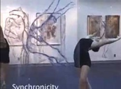 Pnina Granirer, figurative painting and live dancers collaborative performance
