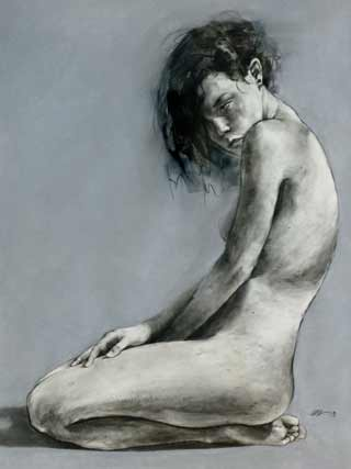 Chris-Gerlings-nude2, figurative nude painting, life drawing