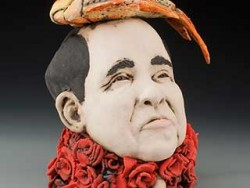 Zach Tate, ceramic sculpture with humor