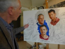 Bo Bakker, studio visit to portrait painter, Amsterdam