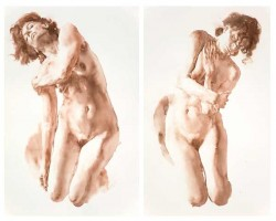 Wendy Artin, watercolor nudes