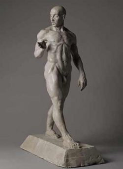 Brett F. Harvey, powerful male nude sculpture