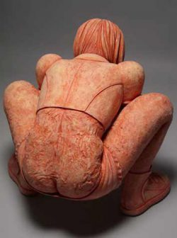 Misty Gamble, figurative ceramic sculpture on the edge