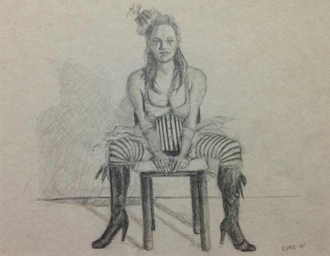 Kenneth-Browne-burlesque-drawing