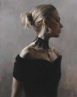 Fletcher Sibthorp, figurative painting the Quiet Space