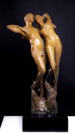 Oceana Rain Stuart, bronze sculpture, graceful human form