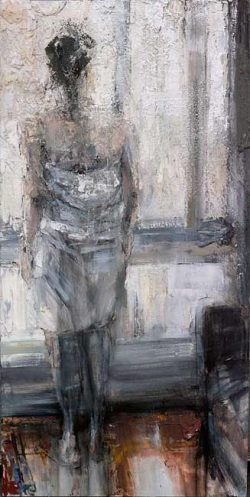 Tibor Simon-Mazula, abstract figurative painting