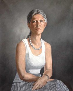 Valérie Tertrais, classic portrait painter from France