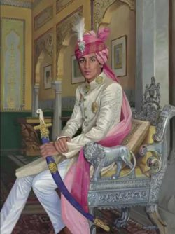 David Goatley, Portrait of Maharaja of Jaipur