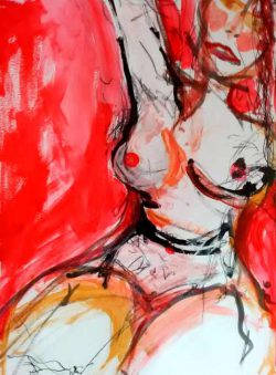 Robert Mace Bent, figurative abstract visual poetry with nudes