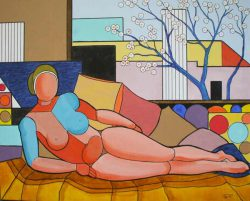 Giovanni Tozzetti, abstract figurative painting from Australia