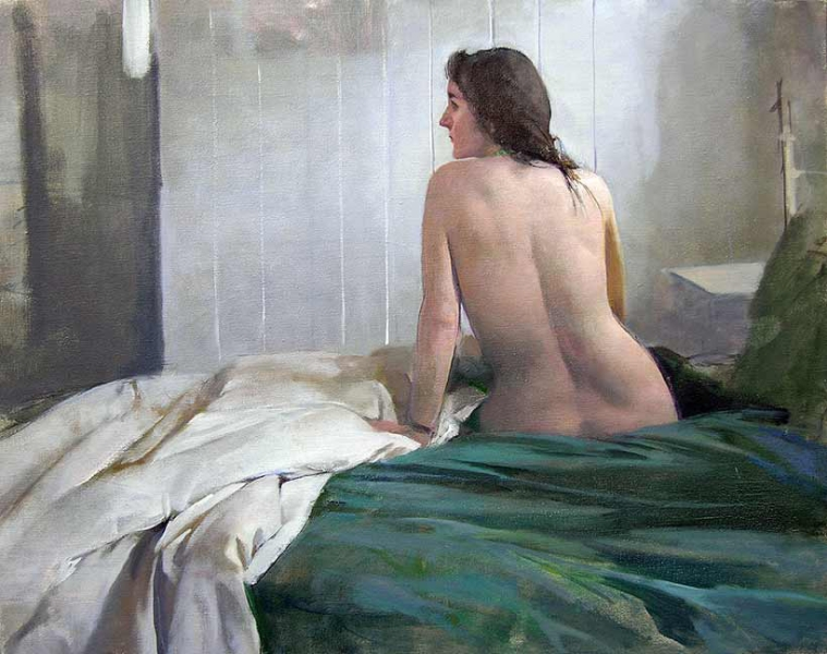 Burton Silverman Morning Nude