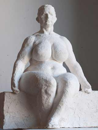 Geemon-Xin-Meng-sculpture-of-sitting-female-nude