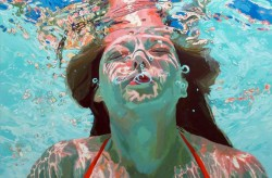 Samantha French, underwater figurative painting