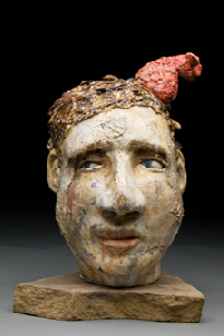 figurative ceramic sculpture heads