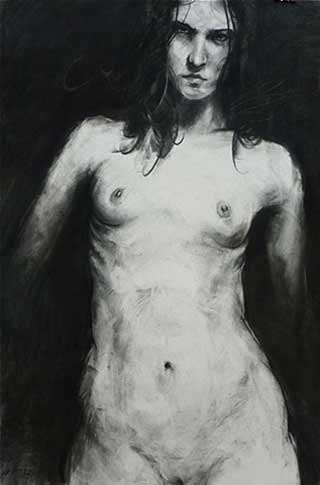 Christopher-Gerlings-nude, figurative nude painting, life drawing