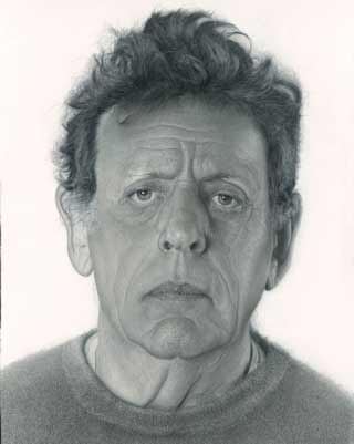 Daan-van-Doorn-Phillip Glass, portrait painting