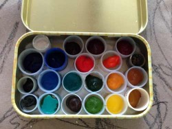 Watercolor travel tin from mints tin