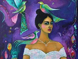 Carla Golembe, intuitive/intentional painting