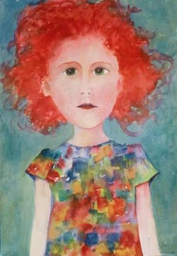 Anne Turner Beletic, vivid watercolor girls