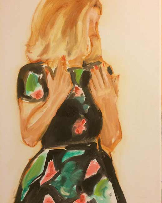 Leslie-Singer-Now5, fashion woman figurative painting