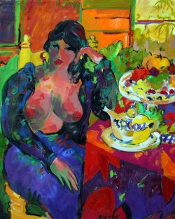 Manel Anoro, colorful nudes & brushy figures