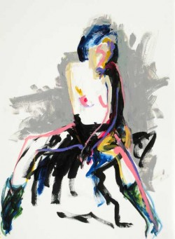 Tony Heath, lively colourful nude paintings with a light touch