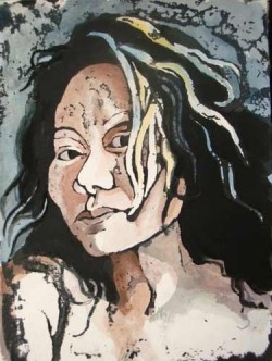 Janice Wahnich, bold portraits paintings & linocuts