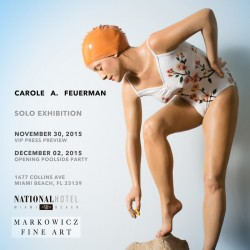 Carole A. Feuerman, hyperreal sculpture bathers