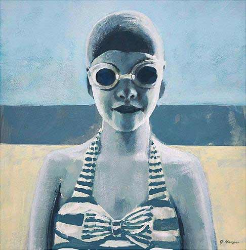 Garry-Harper-painting-swimmer