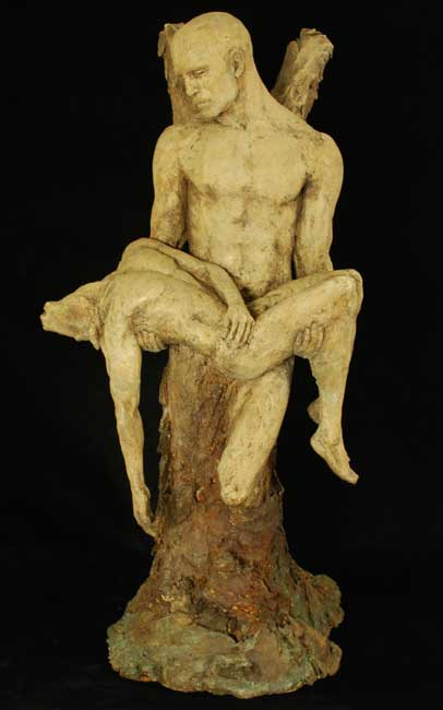 Eve-Shepherd-4Angel-Minotaur figurative sculpture men angel minataur
