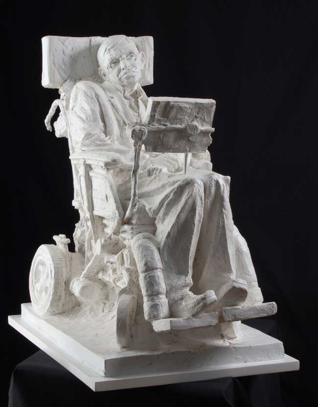 Eve-Shepherd-8Stephen-Hawking portrait sculpture Stephen Hawking