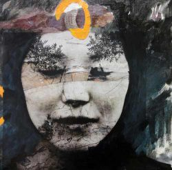 Jaya Suberg, expressive mixed media figurative works
