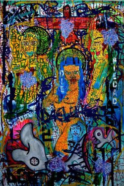 Franck de las Mercedes, abstract peace paintings
