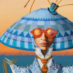 Nils Gleyen, figurative painting the world of Haute Couture
