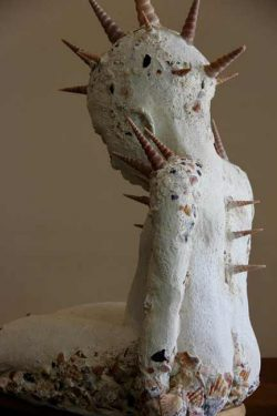 Sallyanne Morgan, figurative sculpture with cement