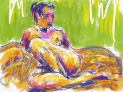Life drawing with Adobe Sketch painting app