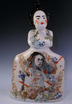 Michel Angela Petersen, gloriously irreverent figurative ceramic sculpture