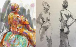 Nude drawings raise objections at music festival