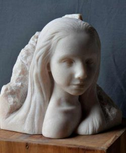 Wikje Schoon, figurative stone sculpture from Netherlands
