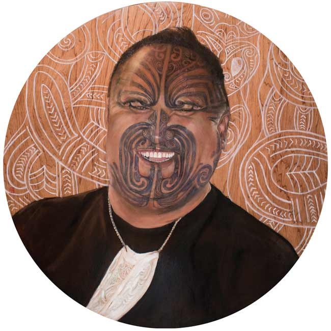 portrait of Maori man