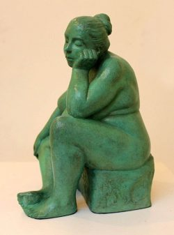 Marie Smith, contemporary figurative sculpture, bronze, Jesmonite