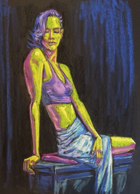 female nude life drawing